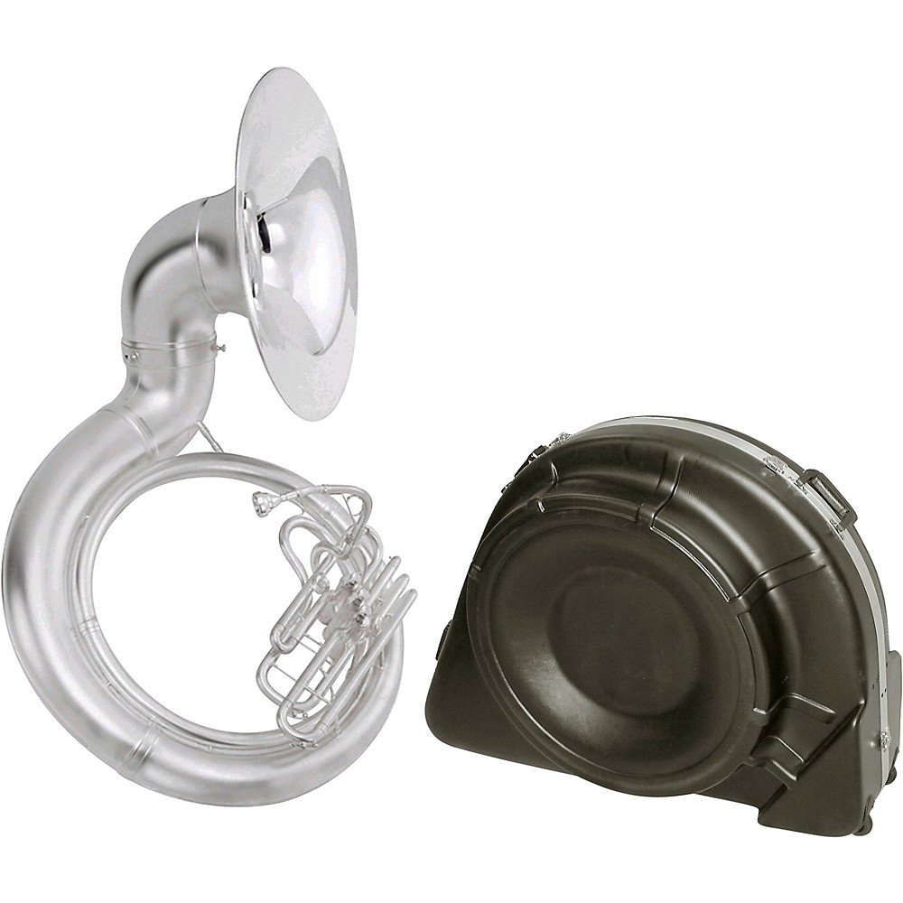 King 2350 Series Brass Bbb Sousaphone 2350Wsb Satin Silver With Case