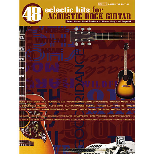 Alfred 48 Eclectic Hits for Acoustic Rock Guitar Tab Songbook