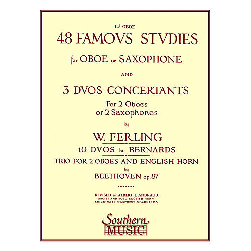 Southern 48 Famous Studies, (1st and 3rd Part) (Oboe) Southern Music Series Arranged by Albert Andraud