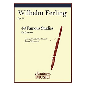 Southern 48 Famous Studies Bassoon Southern Music Series Arranged by Jame... by Southern