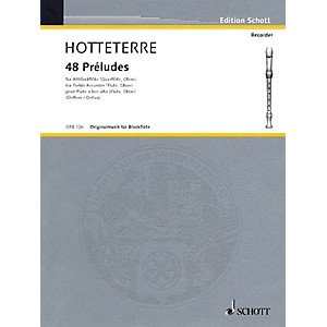 Schott 48 Préludes in 24 Keys, Op. 7 for Alto Recorder Flute/Oboe Schot... by Schott