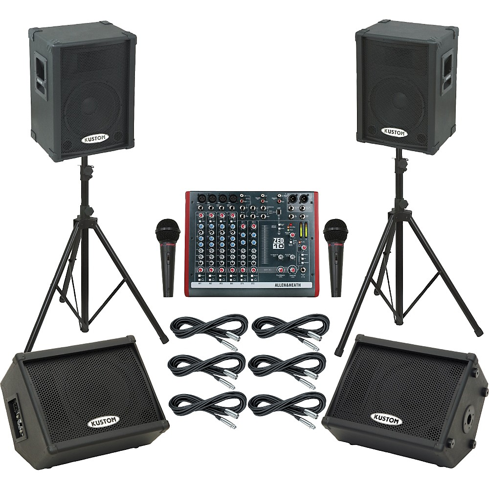 Allen & Heath Zed10 / Kpc12p Mains & Monitors Package