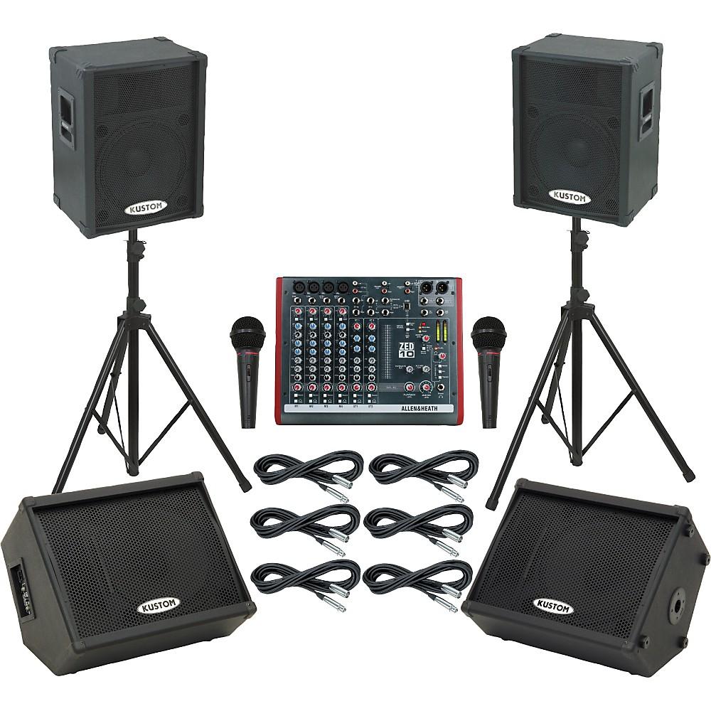 Allen & Heath Zed10 / Kpc15p Mains & Monitors Package