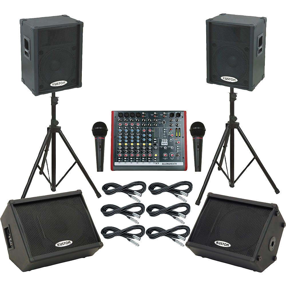 Allen & Heath Zed10fx / Kpc15p Mains & Monitors Package