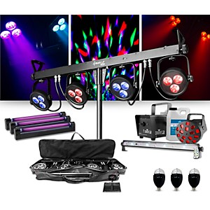 CHAUVET DJ 4BAR LT USB Wash Light System with Jam Pack Diamond and Party Ef... by CHAUVET DJ