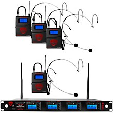 Nady 4W-1KU HT True Diversity Quad Wireless System