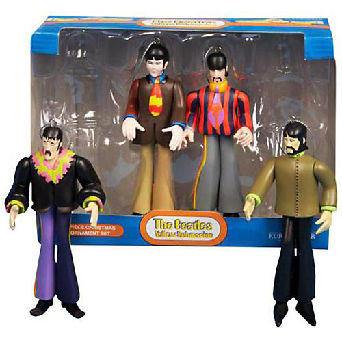 Kurt S. Adler 5-Inch Beatles 4-Piece Ornament Set