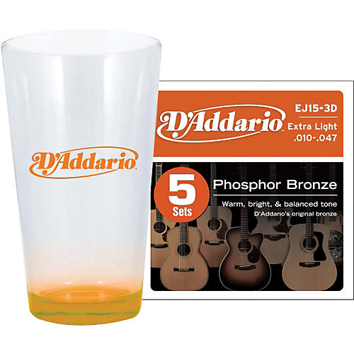 D'Addario 5-Pack EJ15 with Pint Glass-thumbnail
