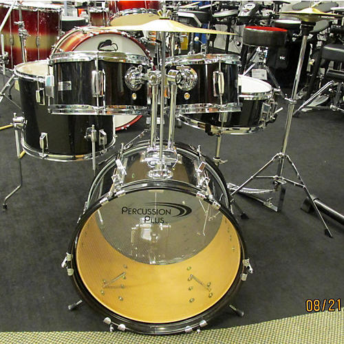 In Store Used 5 Piece 5pc Jr Black Drum Kit