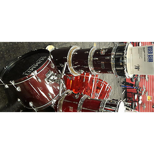 In Store Used 5 Piece Burgundy Drum Kit
