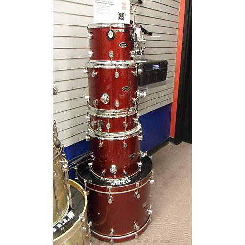 PDP by DW 5 Piece CX 5PC RED SPARKLE Red Sparkle Drum Kit