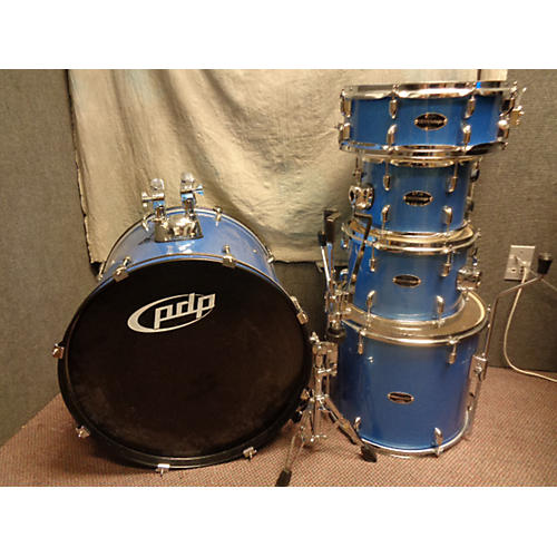 PDP by DW 5 Piece Center Stage Blue Sparkle Drum Kit
