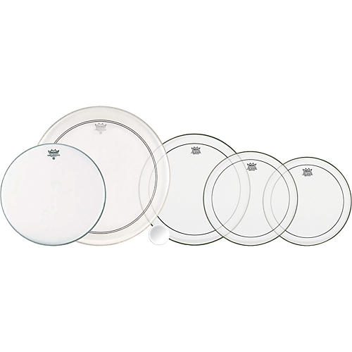 Remo 5-Piece Clear Pinstripe Drumhead Pack  Standard