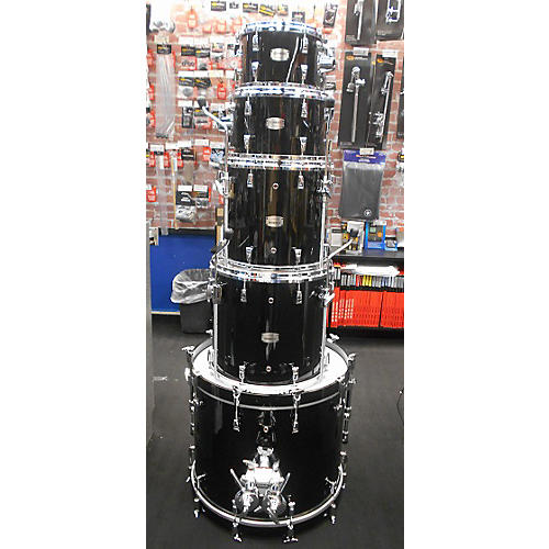 Yamaha 5 Piece Custom Absolute Drum Kit Black 66