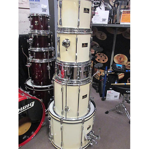 Pearl 5 Piece Export Antique White Drum Kit