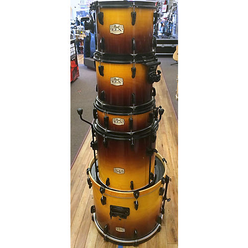 Pearl 5 Piece Export EXL Brown Burst Drum Kit