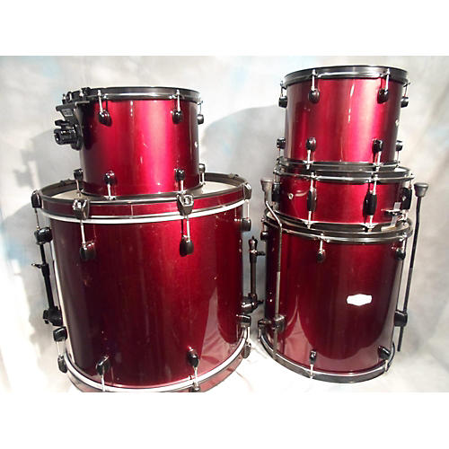 Pearl 5 Piece Forum Wine Red Drum Kit