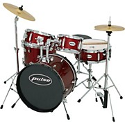 5-Piece Junior Drum Set Wine Red