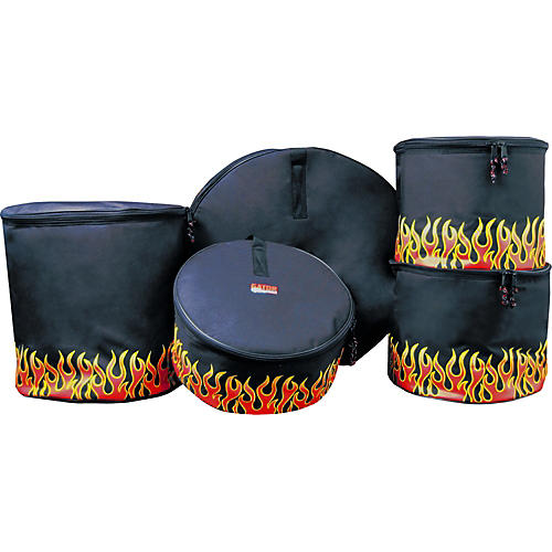 Gator 5-Piece Padded Standard Bag Set with Flames