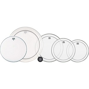 Remo 4-Piece Clear Pinstripe Standard Pro Pack with Free 14 in. Coated Amba... by Remo