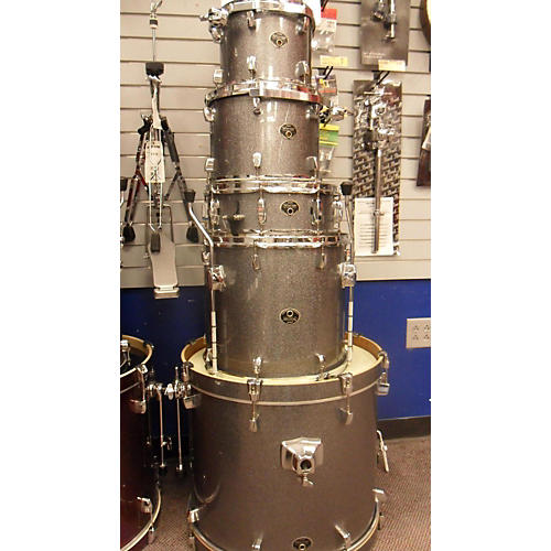 Tama 5 Piece Silverstar Drum Kit Silver Sparkle 66