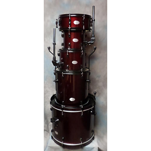 Pearl 5 Piece Soundcheck Wine Red Drum Kit