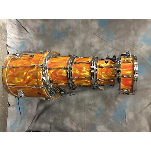 used tama 5 piece superstar orange satin flame drum kit guitar center. Black Bedroom Furniture Sets. Home Design Ideas