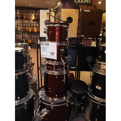 In Store Used 5 Piece Wine Red Drum Kit