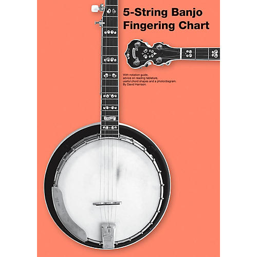 Music Sales 5-String Banjo Fingering Chart