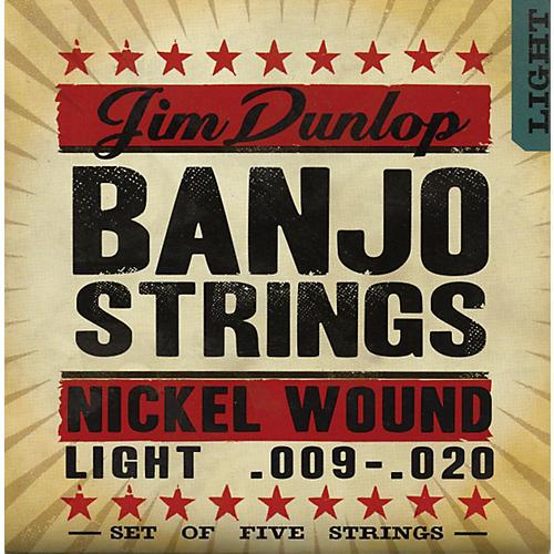 Dunlop 5-String Banjo Light Nickel String Set