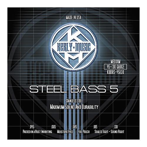 Kerly Music 5-String Bass Strings - Stainless Steel Medium