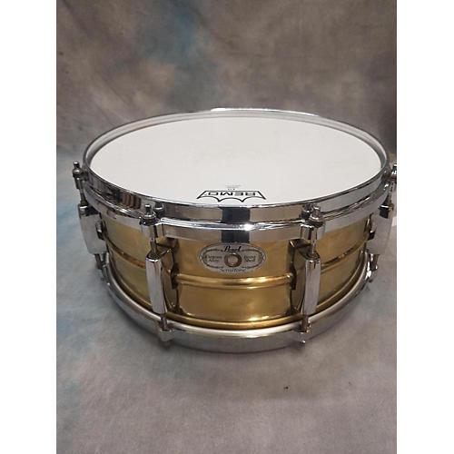 Pearl 5.5X13 Sensitone Snare Drum Brass 9
