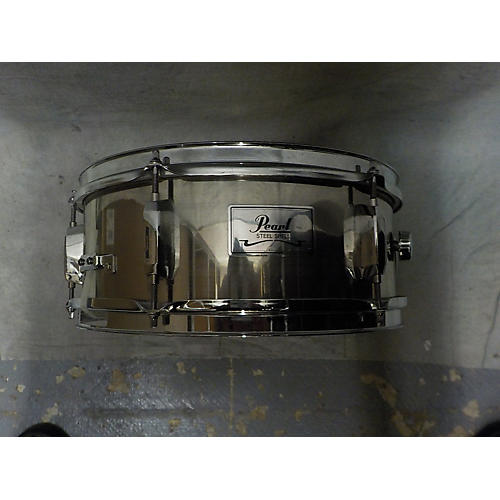 Pearl 5.5X13 Steel Snare Drum-thumbnail