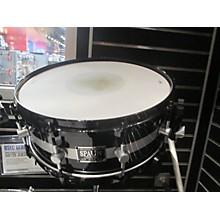Spaun 5.5X14 5.5x14 Black Snare - Silver Stripe Drum