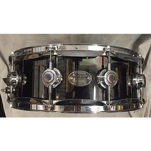 DW 5.5X14 Black Nickel Over Brass Snare Drum-thumbnail