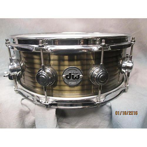 DW 5.5X14 Collector's Series Vintage Brass Over Steel Drum