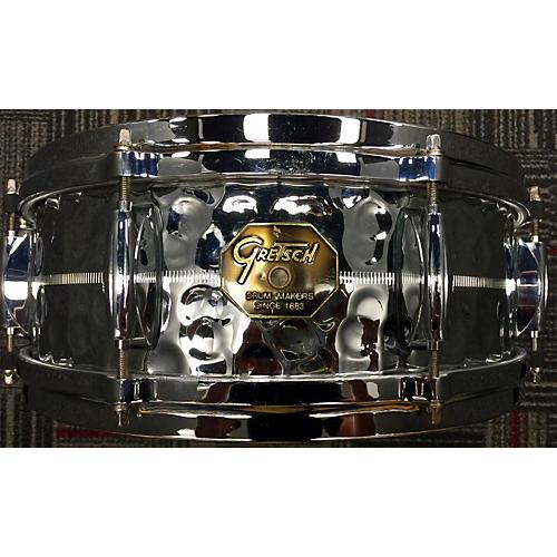 Gretsch Drums 5.5X14 G4160HB Drum HAMMERED STEEL 10
