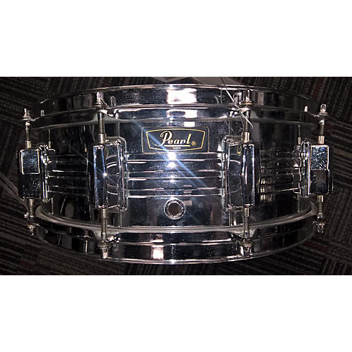 Pearl 5.5X14 Jupiter Chrome Over Brass Snare Drum