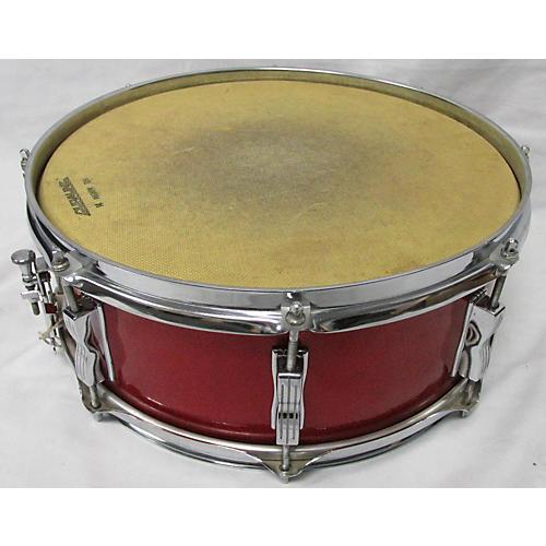 used ludwig 5 5x14 maple poplar snare drum red sparkle 10 guitar center. Black Bedroom Furniture Sets. Home Design Ideas