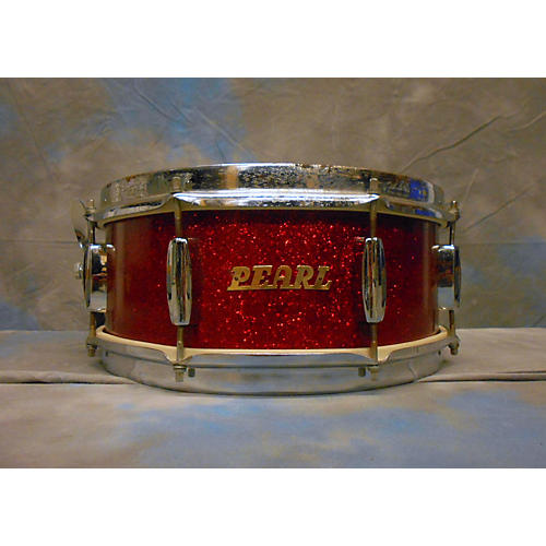 Pearl 5.5X14 MIJ Snare Drum Drum Red Sparkle 10