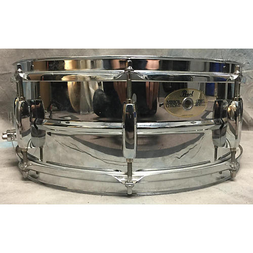 Pearl 5.5X14 MIRROR CHROME STEEL SHELL Drum