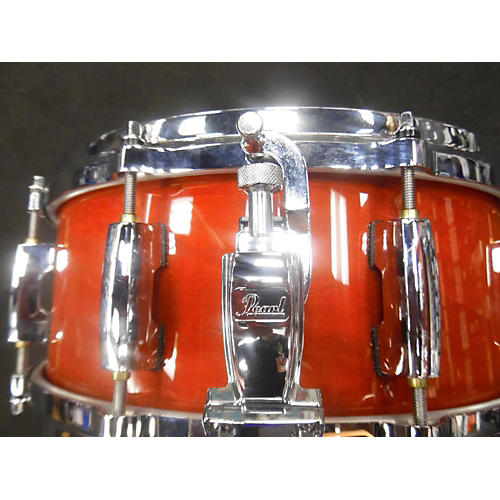 Pearl 5.5X14 Masters MCX Series Snare Drum Crimson Red Trans 10