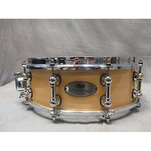 used pearl 5 5x14 reference pure snare drum natural 10 guitar center. Black Bedroom Furniture Sets. Home Design Ideas