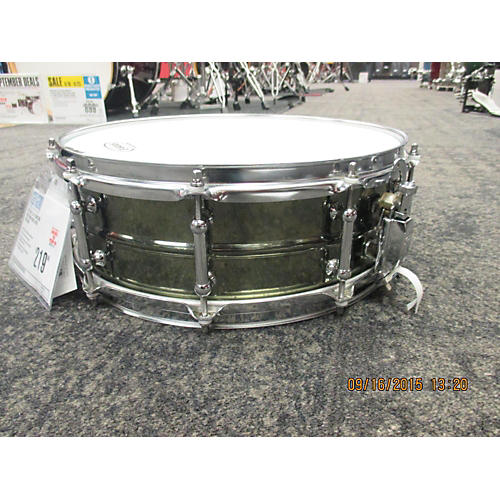 Pearl 5.5X14 Sensitone Beaded Snare Nickel Over Brass Drum-thumbnail