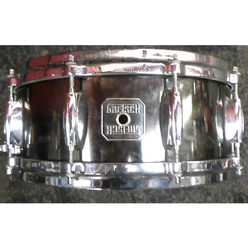 Gretsch Drums 5.5X14 Solid Steel Snare Drum Steel 10