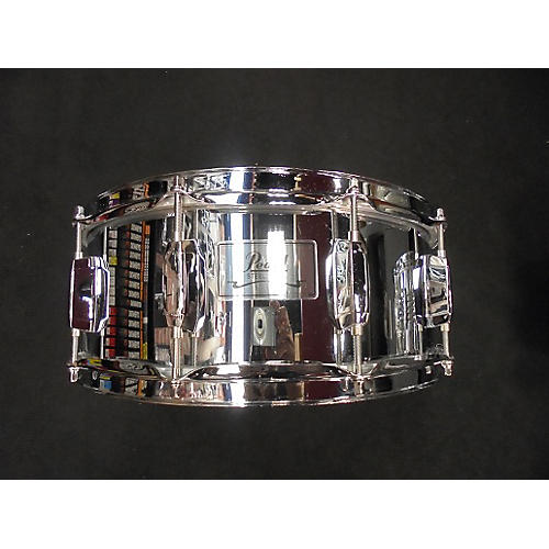 Pearl 5.5X14 Steel Shell Drum Chrome 10