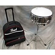 Pearl 5.5X14 Student Snare Drum W/ Rolling Case And Stand Drum
