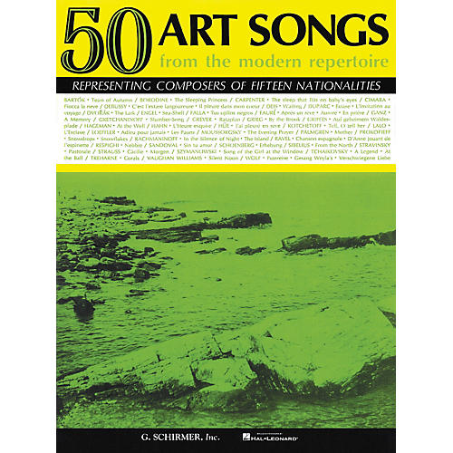 G. Schirmer 50 Art Songs From The Modern Repertoire Voice / Piano-thumbnail