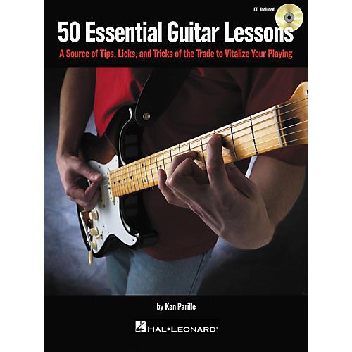 Hal Leonard 50 Essential Guitar Lessons (Book/CD)-thumbnail