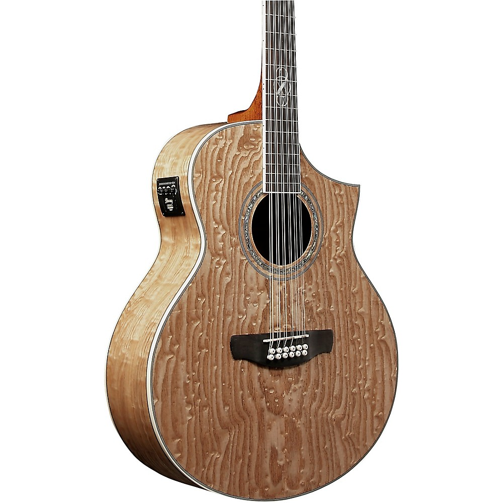 Ibanez Ew2012asent 12-String Exotic Wood Acoustic-Electric Guitar Gloss Natural 1274115042838